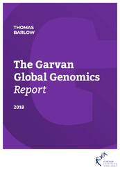 Garvan Global Genomics Report cover